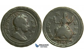 K30, Great Britain, George I, Farthing 1723, Fine