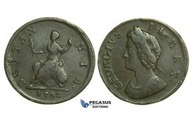K34, Great Britain, George II, Farthing 1732, VF