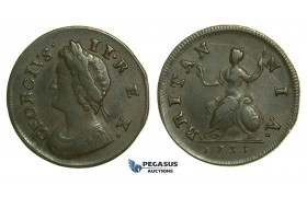 K35, Great Britain, George II, Farthing 1735, VF