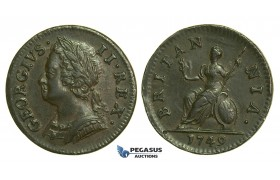 K41, Great Britain, George II, Farthing 1749, EF