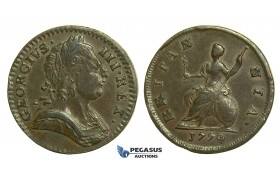 K46, Great Britain, George III, Farthing 1774, GVF