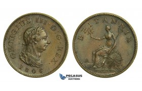K48, Great Britain, George III, Farthing 1806, aUNC Brown