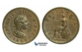 K49, Great Britain, George III, Farthing 1807, EF Brown