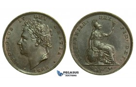 K52, Great Britain, George IV, Farthing 1828, GEF
