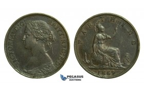 K67, Great Britain, Victoria, Farthing 1869, GVF