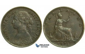 K69, Great Britain, Victoria, Farthing 1875, GVF