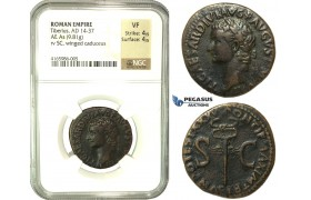 K88, Roman Empire, Tiberius (14-37 AD) AE As (9.81g) 34/5 AD, Rome, NGC VF