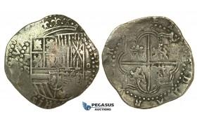 K95, Bolivia, Philip II, Cob 8 Reales ND (Great Module) Essayer P-B, Potosi, Silver (27.42g) No Corrosion