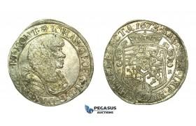 L02, Germany, Saxony, Johann Georg II, 1/3 Taler 1672-CR, Dresden, Silver (9.73g) Top Grade