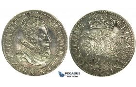 L12, Poland, Sigismund III, 6 Groschen (Szostak) 1600-M, Malbork (Marienburg) Silver (4.53g) Toned High Grade