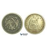 L25, United States, Liberty Seated Quarter (25 Cents) 1875-CC, Carson City, Nice & Rare!