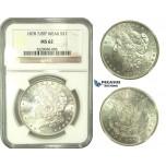 L26, United States, Morgan Dollar 1878 7/8TF Weak, Silver, NGC MS62