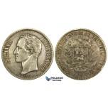 L39, Venezuela, 5 Bolivares 1921, Caracas, Silver