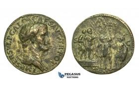 L42, Roman Empire, Galba (68-69 AD) Fantasy Sestertius (Paduan) work of Giovanni da Cavino (1500-1570)