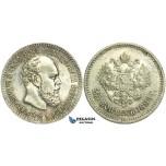 L59, Russia, Alexander III, 25 Kopeks 1894, St. Petersburg, Silver, Mint State (Few bag marks)