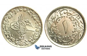 L71, Ottoman Empire, Egypt, Abdulhamid, 1/10 Qirsh AH1293/32-H, Heaton, Brilliant UNC