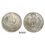 L85, Hungary, Charles VI, Taler 1740-KB, Kremnitz, Silver (28.59g) partial toned aUNC