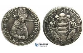L86, Transylvania, Sigismund Bathori, Taler 1590, Nagybanya, Silver (28.77g) Dark Toning, Rare!