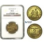 M07, France, 3rd Republic, 2 Francs 1925, Paris, NGC MS66
