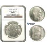 M09, France, 3rd Republic, 20 Francs 1933, Paris, Silver, NGC MS64