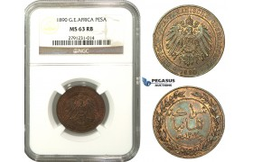 M10, German East Africa (DOA) Pesa 1890, NGC MS63RB
