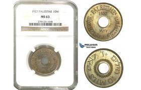 M14, Palestine, 10 Mils 1927, NGC MS63