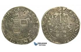 M19, Germany, Emden, Ferdinand III, 28 Stuiver ND, Silver (20.14g)