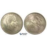 M25, Romania, Mihai I, 100.000 Lei 1946, Silver, Toned Choice UNC