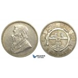 M28, South Africa (ZAR) 2 Shillings 1892, Silver, High Grade (Light Hairlines)