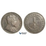M36, Cyprus, Edward VII, 1/4 Piastre 1908, Rare!