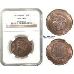 M42, France, 3rd Repubic, 10 Centimes 1872-A, Paris, NGC MS64RB