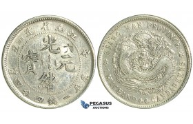 M85, China, Kiangnan, 20 Cents CD 1901, Silver, Y143.a.5 (chop marked) Cleaned