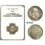 N89, Russia, Alexander III, 25 Kopeks 1894, Silver, NGC MS63