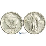 N93, United States, Standing Liberty Quarter (25C) 1918 Silver,