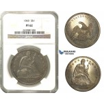 N94, United States, Liberty Seated Dollar 1860, Silver, NGC PF62