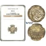 O09, France, Louis Philippe, 1/4 Franc 1833-A, Paris, Silver, NGC MS65 (Pop 1/1, Finest)