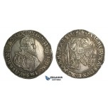 O11, Hungary, Rudolph II, Taler 1581 K-B, Kremnitz, Silver (28.36g) Dark toning, Die adjustment marks, scratched on Obv.