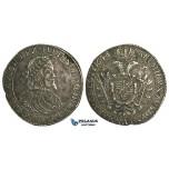 O12, Hungary, Ferdinand III, Taler 1648 K-B, Kremnitz, Silver (27.16g) Dark toning!