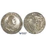 O13, Hungary, Ferdinand III, Taler 1653 K-B, Kremnitz, Silver (28.37g) Mint luster, High Grade! Rare condition!