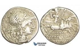 O44, Roman Republic, L. Minucius (133 BC) AR Denarius (3.82g) Rome, Quadriga