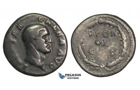 O62, Roman Empire, Galba (68-69 AD) AR Denarius (3.20g) Rome, SPQR, Rare!