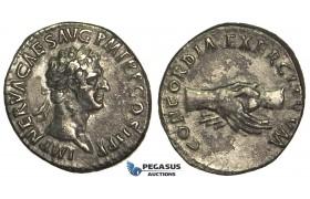 O67, Roman Empire, Nerva (96-98 AD) AR Denarius (3.30g) Struck 97 AD, Rome