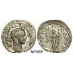 O77, Roman Empire, Severus Alexander (222-235 AD) AR Denarius (2.87g) Struck 223 AD, Rome, Pax