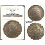 O84, France, Louis XVI, Ecu 1785 (Cow) Pau, Silver, NGC AU58