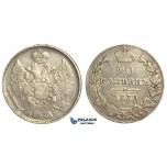 O93, Russia, Nicholas I, 20 Kopeks 1839 СПБ-НГ, St. Petersburg, Silver