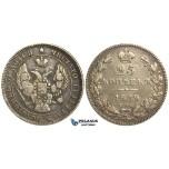 O95, Russia, Nicholas I, 25 Kopeks 1839 СПБ-НГ, St. Petersburg, Silver
