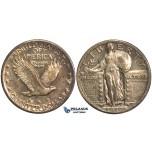 O99, United States, Standing Liberty Quarter (25C) 1919, Silver, Dark Toning!