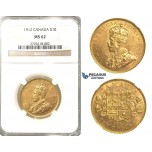 R302, Canada, George V, 10 Dollars 1912, Gold, NGC MS62