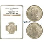 P24, Spain, Alfonso XIII, Peseta 1904 (04) SM-V, Madrid, Silver, NGC MS63