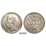 P34, Russia, Nicholas II, Rouble 1898 (*) Paris, Silver, Nice! Remaining Luster!